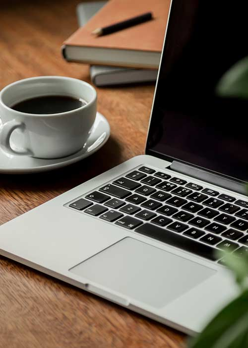 Coffee and a Laptop - the essential tools